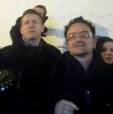 Damien busking with Bono, Glen and more…